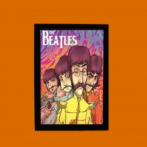 QUADRINHO BEATLES CARICATURAS